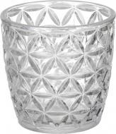 Свічник стаканчик Chic деколь срібний 7,3 см