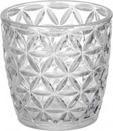 Свічник стаканчик Chic деколь срібний 9 см