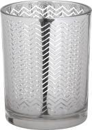 Свічник стаканчик Mercury сріблястий 10х12 см
