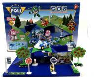 Детские игрушки Набор Поли Робокар парковка мини с машинкой Shantou