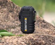 Водонепроницаемая электроимпульсная USB-зажигалка Sundy Черная (030)