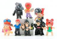 Детские игрушки Набор популярных фигурок Brawl Stars 8 шт с игры Бравл Старс: Джесси, Кольт, Ворнон,