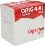 Серветки столові Origami    24х24 см білі 85  шт.