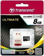 Карта пам'яті Transcend MicroSDHC 8GB (TS8GUSDHC10-P3)