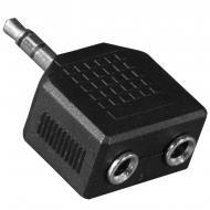 Универсальный переходник штекер Lesko 3.5mm / 2 x 3.5mm разьем для телефона компьютера разветвитель