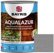 Лазурь Bayris Aqualazur Серый мат 0,75 л