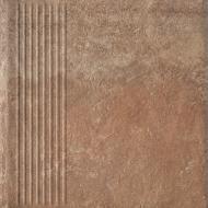 Клінкерна плитка Fondi rosso stopnica prosta 30x30 Ceramika Paradyz