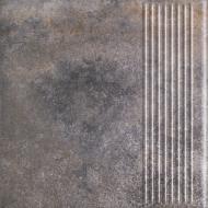 Клінкерна плитка Marsala grys stopnica prosta 30x30 Ceramika Paradyz