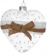 Ялинкова іграшка Серце 10 см