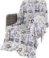 Плед Flannel Happy 160x200 см білий із сірим La Nuit