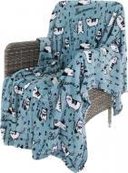 Плед Flannel Lazy Cats 160x200 см блакитний La Nuit
