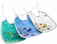 Набір нагрудників Canpol Babies бавовняно-клейонкових 3 шт 2/962
