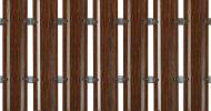 Євроштахетник сторона A 0,40 PE Woodlike (brown) 0.125x1500