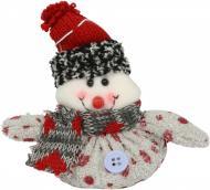 Мягкая игрушка Снеговичок 12 см