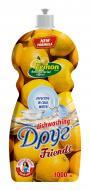 Засіб для ручного миття посуду Друг Лимон з гліцерином 1л