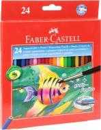 Олівці кольорові акварельні з пензликом Faber-Castell
