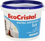 Краска латексная водоэмульсионная EcoCristal Люкс ИР-233 мат белый 3л