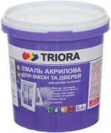 Эмаль Triora акриловая для окон и дверей белый полуглянец 0,4л