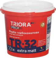 Фарба латексна водоемульсійна Triora TR-32 extra matt глибокий мат білий 1л