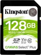 Карта пам'яті Kingston SDXC 128 ГБ Class 10UHS-I Class 3 (U3) (SDS2/128GB) Canvas Select Plus V30