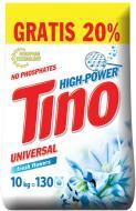 Пральний порошок для машинного та ручного прання Tino High-Power Fresh flowers 10 кг