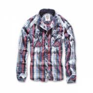 Рубашка Brandit Central City XL Белый с синим (4013)