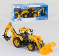 Инерционный Трактор с подвижным ковшом Small Toys 9998-10 Желтый (2-21712)
