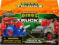 Ігровий набір Road Rippers Машинка та динозавр Triceratops blue 20073