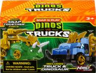 Ігровий набір Road Rippers Машинка і динозавр Triceratops green 20074