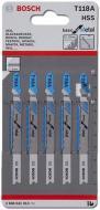 Пилка для електролобзика Bosch T118A 5 шт. 2608631013