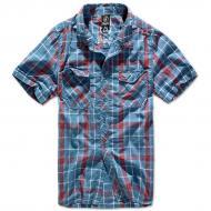 Рубашка Brandit Roadstar M Красный с голубым (4012.42-M)