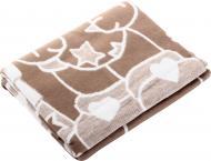 Одеяло детское 100*140 бежево-белый