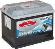 Акумулятор автомобільний SZNAJDER Silver Premium 6СТ- 62Aз 62А 12 B «+» ліворуч