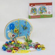 Деревянная игра Small Toys Шнуровка Слоник С 39320 (2-81548)