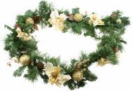 Гірлянда хвойна 1.8 м Різдвяна декорована XG-1342