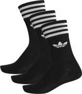 Носки Adidas SOLID CREW SOCK S21490 р. 43-46 черный