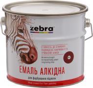 Емаль ZEBRA алкідна для підлоги ПФ-266 серія Акварель 887 червоно-коричневий глянець 2,8кг