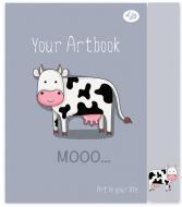 """Блокнот """"Artbook"""" cow, A5, Profiplan"""