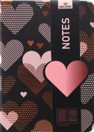 Блокнот Gold line hearts 10,5x14,5 см
