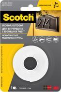 Монтажна двостороння стрічка 3M Scotch-Mount біла погодостійка 12 мм х 2 м товщина 1,1 мм