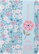 Блокнот Перші квіти 10,5x14,5 см блакитний