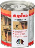 Лазурь Alpina HOLZLASUR белый шелковистый мат 0,75 л