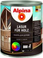 Лазурь Alpina HolzLasur Grun шелковистый мат зеленый 0,75 л