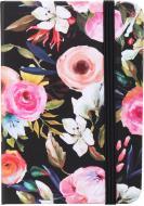 Блокнот Літні квіти 10,5x7,5 см чорний