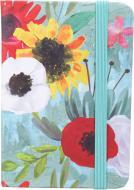 Блокнот Літні квіти 10,5x7,5 см блакитний
