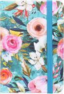 Блокнот Літні квіти 10,5x7,5 см бірюзовий