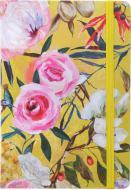 Блокнот Літні квіти 21x14,5 см жовтий