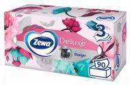 Салфетки бумажные в коробке Zewa Deluxe косметические трехслойные 90 шт.