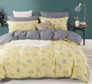 Комплект постільної білизни August flower двоспальний різнокольоровий принт La Nuit