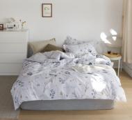 Комплект постільної білизни Silver blossom полуторний різнокольоровий принт La Nuit